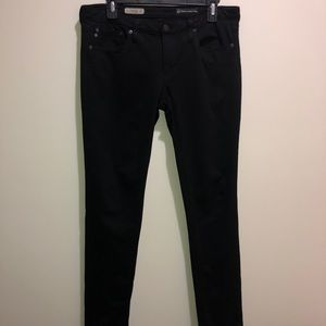 AG Adriano Goldschmied Size 30R Black The Legging,